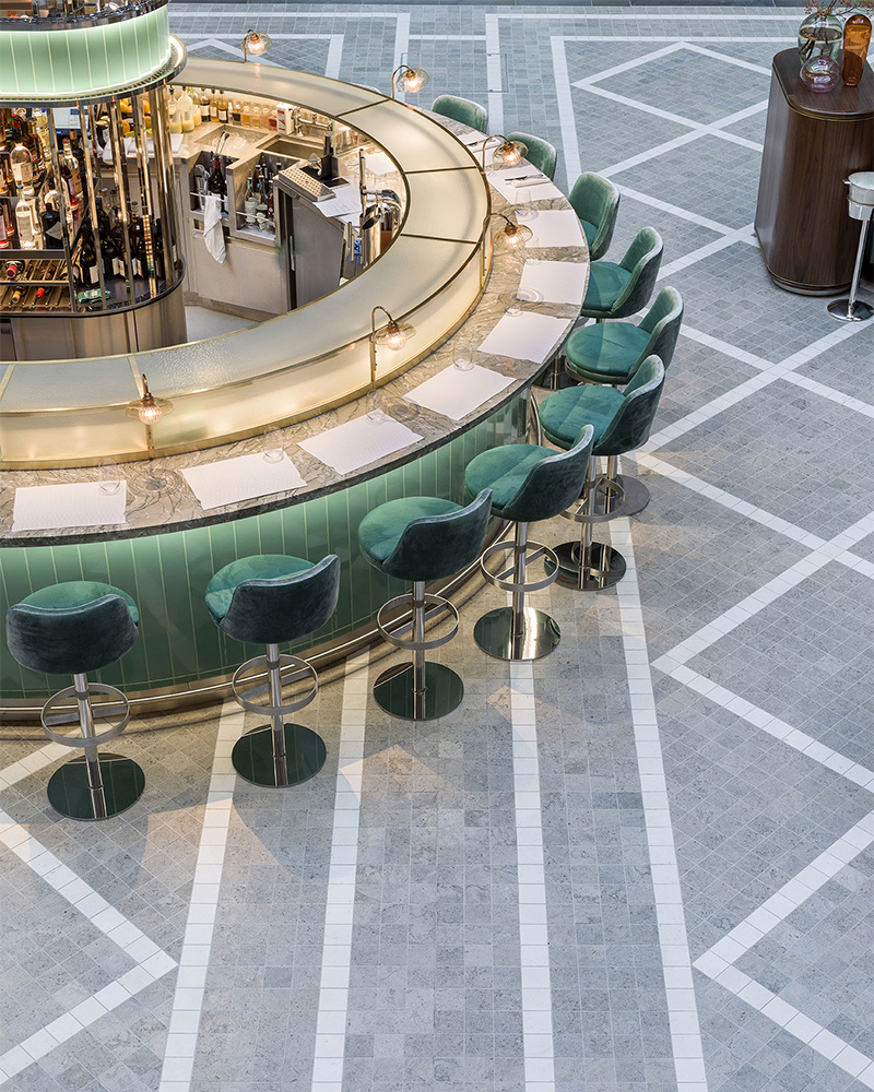 Fortnum Royal Exchange Bar and Restaurant, London by Universal Design Studio. Photography by Andrew-Meredith.