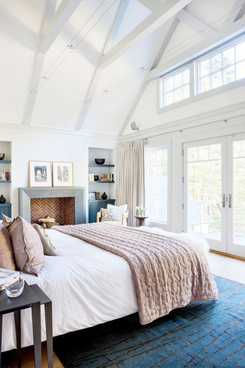 Classic New England shingle-style home Master Bedroom, Boston, Massachusetts by LDa Architecture & Interiors