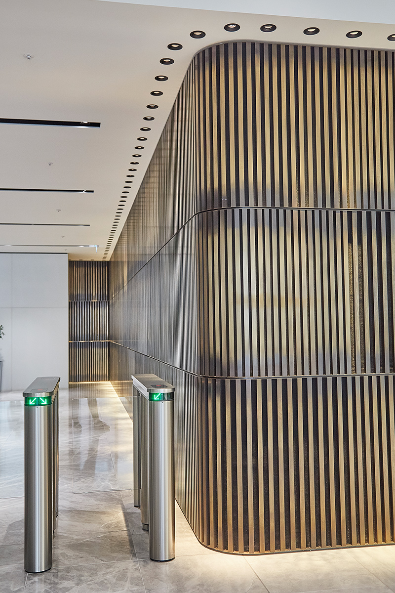 Reception upgrade of 1 Broadgate Quarter, Snowden St, London by John Robertson Architects. Photography by Paris Granger.