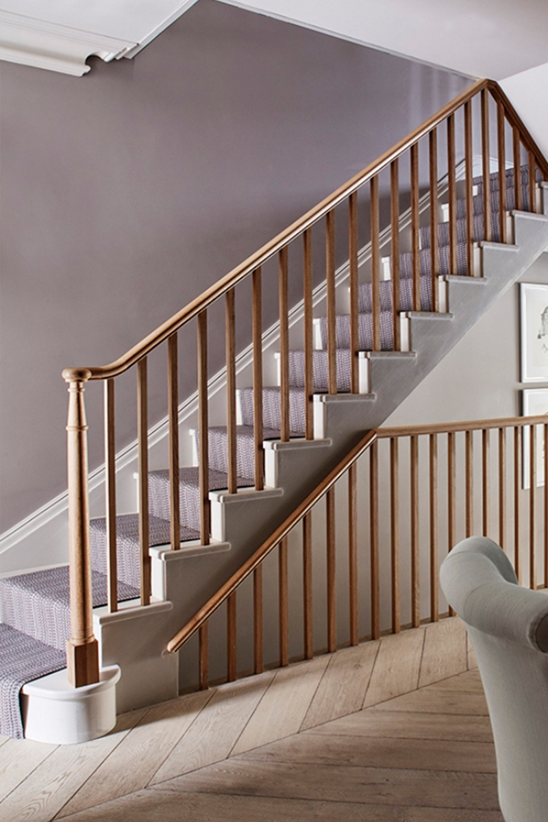 Pared back staircase design for a townhouse Parsons Green, Fulham, London by Sims Hilditch