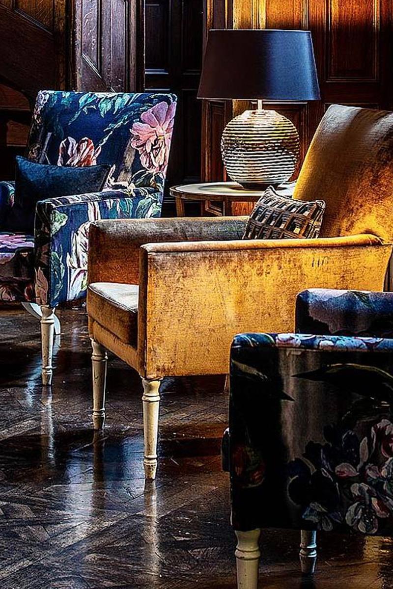 Interior of Jesmond Dene House Hotel, Newcastle upon Tyne by Karen Walker Interior Design.